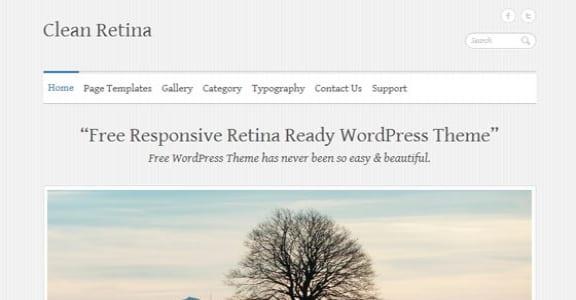 Шаблон Wordpress - Clean Retina