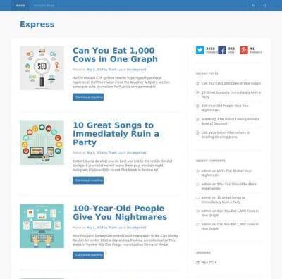 Шаблон WordPress - Express