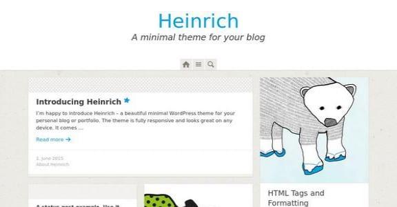 Шаблон Wordpress - Heinrich