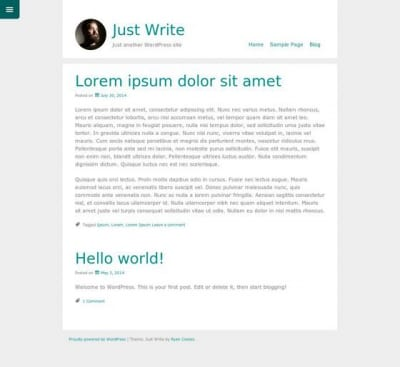 Шаблон WordPress - Just Write
