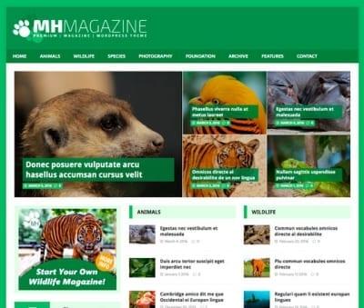 Шаблон WordPress - MH Biosphere