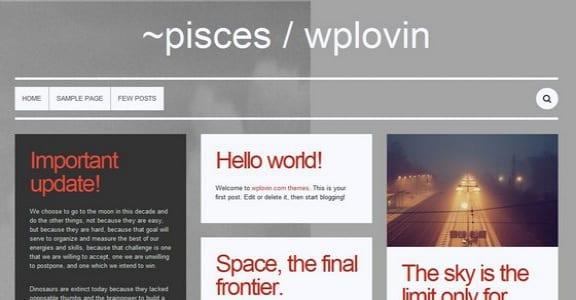 Шаблон Wordpress - Pisces