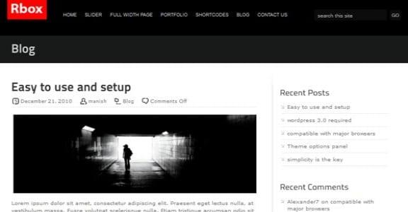 Шаблон Wordpress - Rbox