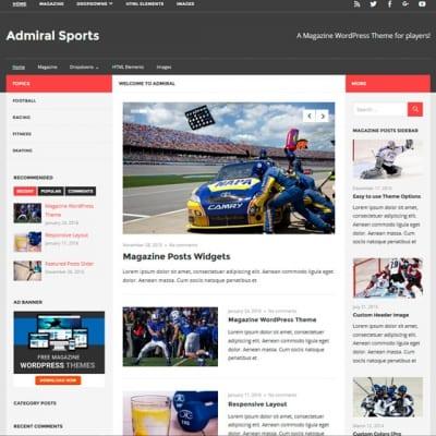 Шаблон WordPress - Admiral