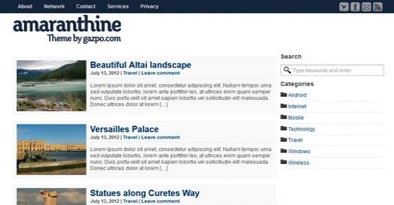Шаблон Wordpress - Amaranthine