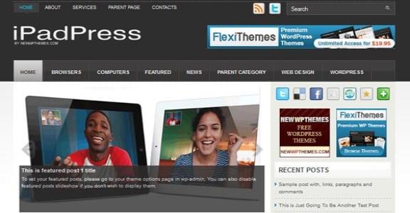 Шаблон Wordpress - iPadPress