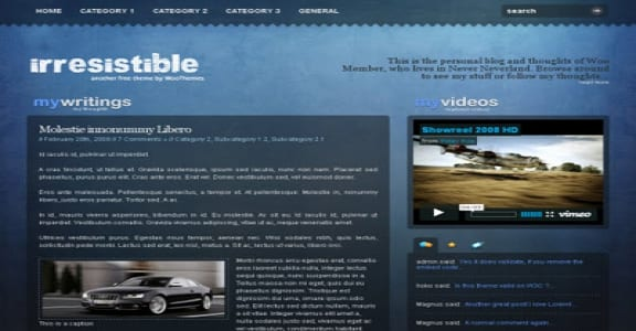 Шаблон Wordpress - Irresistible