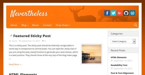 Шаблон Wordpress - Nevertheless