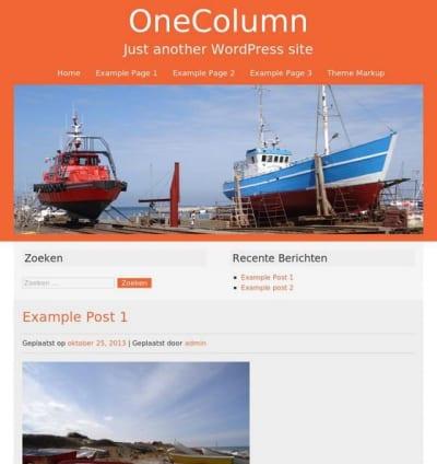 Шаблон WordPress - Onecolumn