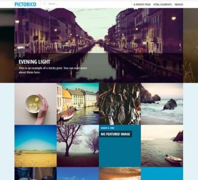Шаблон WordPress - Pictorico
