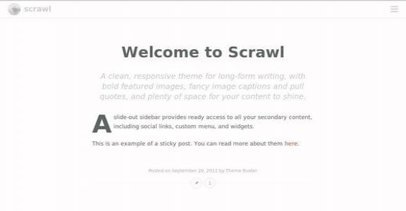 Шаблон Wordpress - Scrawl