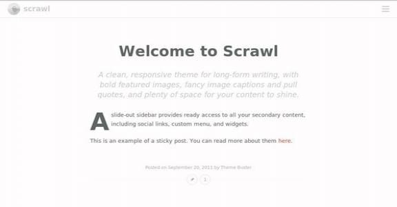 Шаблон Wordpress - Scrawl
