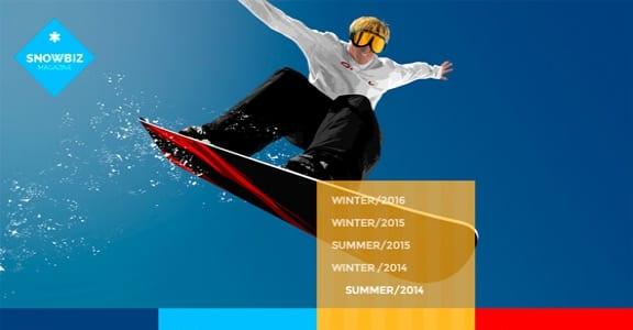 Шаблон Wordpress - SnowBiz