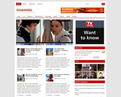 Шаблон WordPress - Channel