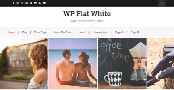 Шаблон Wordpress - Flat White