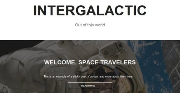 Шаблон Wordpress - Intergalactic