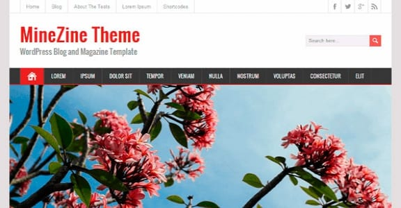 Шаблон Wordpress - MineZine