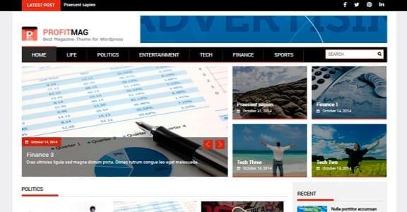 Шаблон Wordpress - ProfitMag