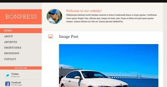 Шаблон Wordpress - Bonpress