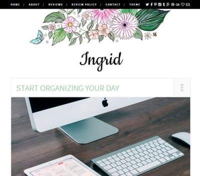 Шаблон WordPress - Ingrid