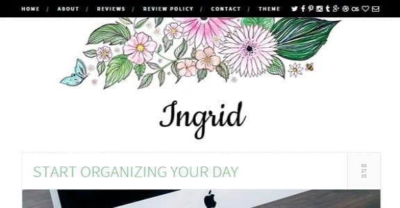 Шаблон Wordpress - Ingrid
