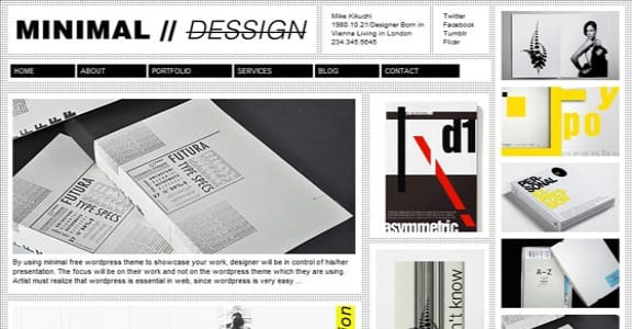 Шаблон Wordpress - Minimal Design
