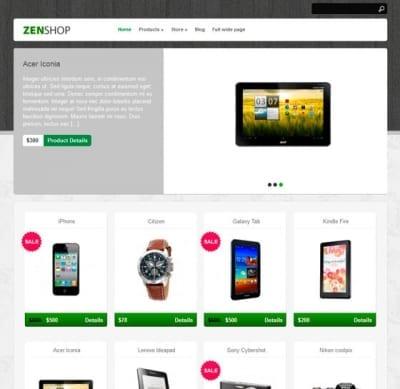 Шаблон WordPress - Zenshop