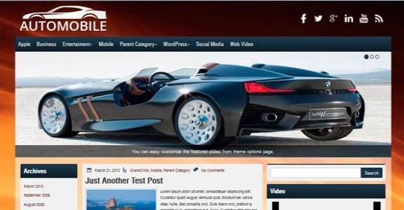 Шаблон Wordpress - Automobile