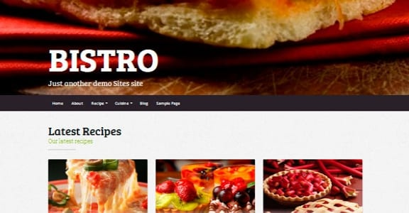 Шаблон Wordpress - Bistro