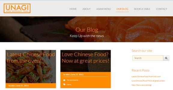 Шаблон Wordpress - Chinese Restaurant