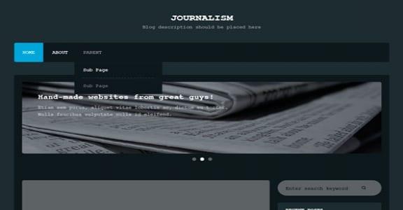 Шаблон Wordpress - Journalism
