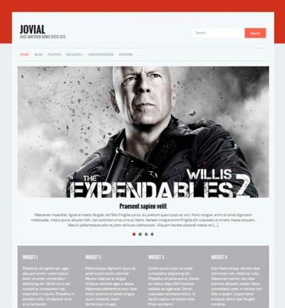 Шаблон WordPress - Jovial