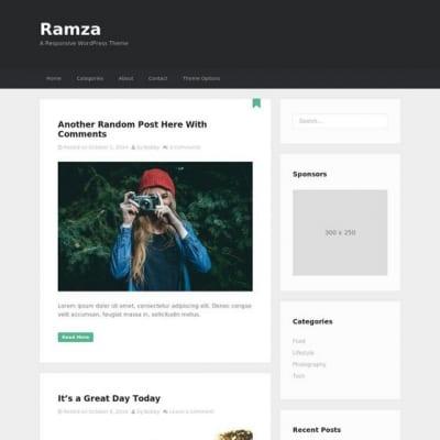 Шаблон WordPress - Ramza