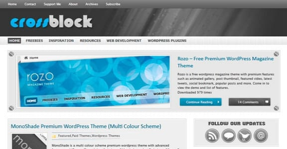 Шаблон Wordpress - CrossBlock