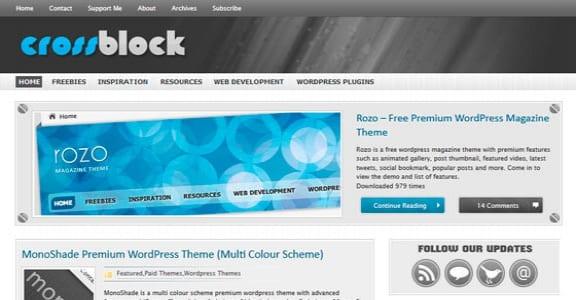 Шаблон Wordpress - CrossBlock