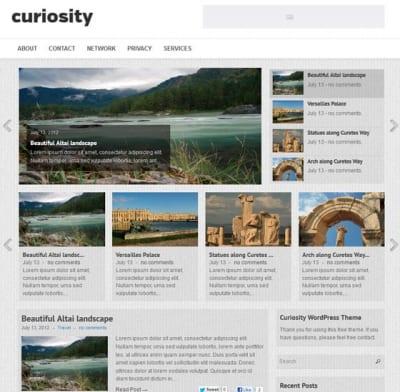 Шаблон WordPress - Curiosity