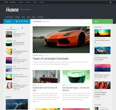 Шаблон WordPress - Hueman