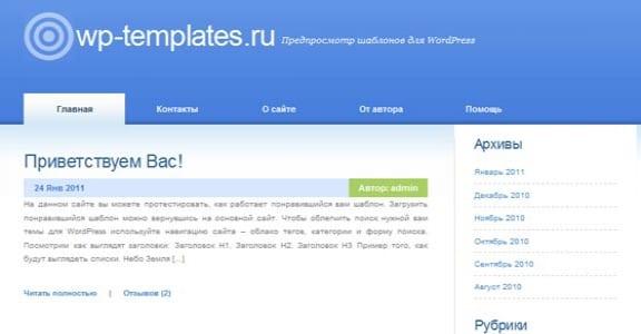Шаблон Wordpress - Indication