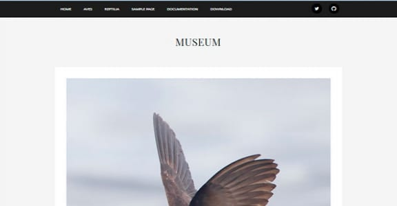 Шаблон Wordpress - Museum