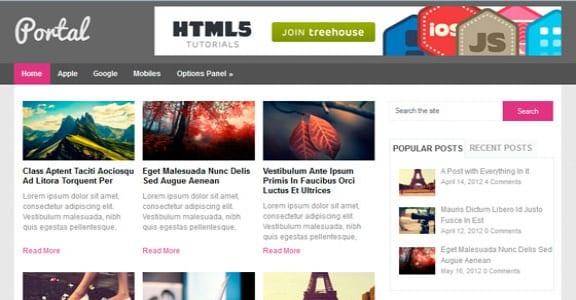 Шаблон Wordpress - Portal
