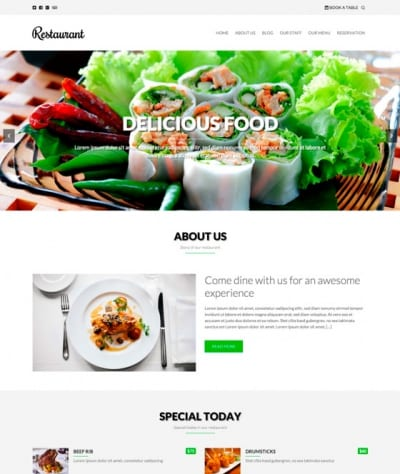 Шаблон WordPress - Restaurant