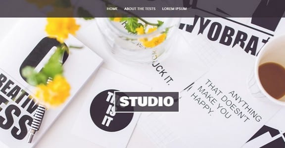 Шаблон Wordpress - Studio