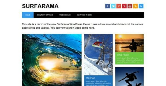 Шаблон Wordpress - Surfarama