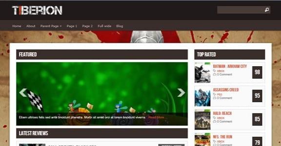 Шаблон Wordpress - Tiberion