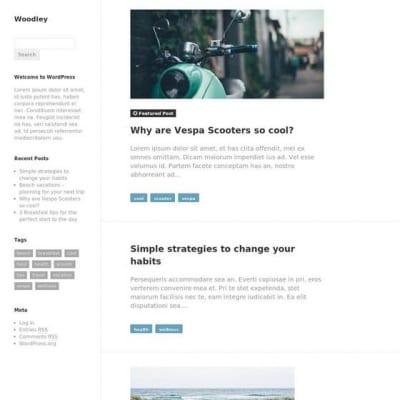 Шаблон WordPress - Woodley