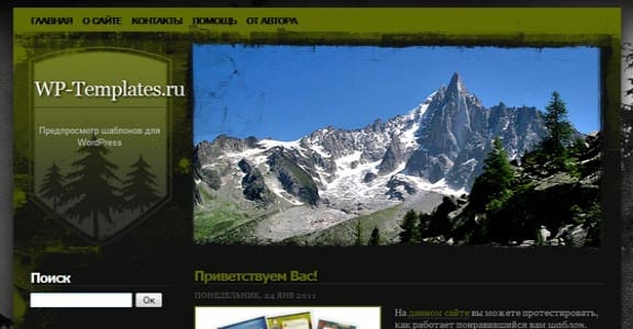 Шаблон Wordpress - Alpine