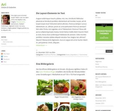 Шаблон WordPress - Ari