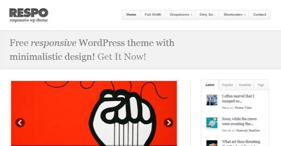 Шаблон Wordpress - Respo Theme