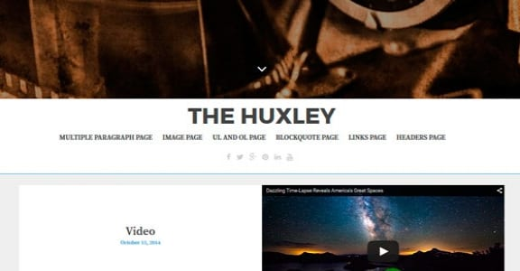 Шаблон Wordpress - The Huxley