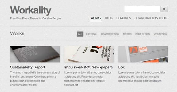 Шаблон Wordpress - Workality